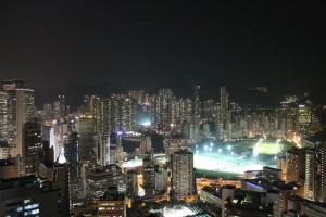 Villabinos en Hong Kong de noche