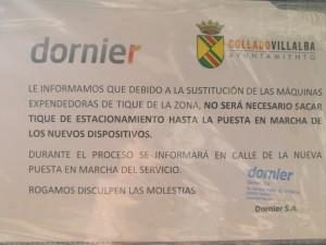 Parquímetro zona ORA - dornier